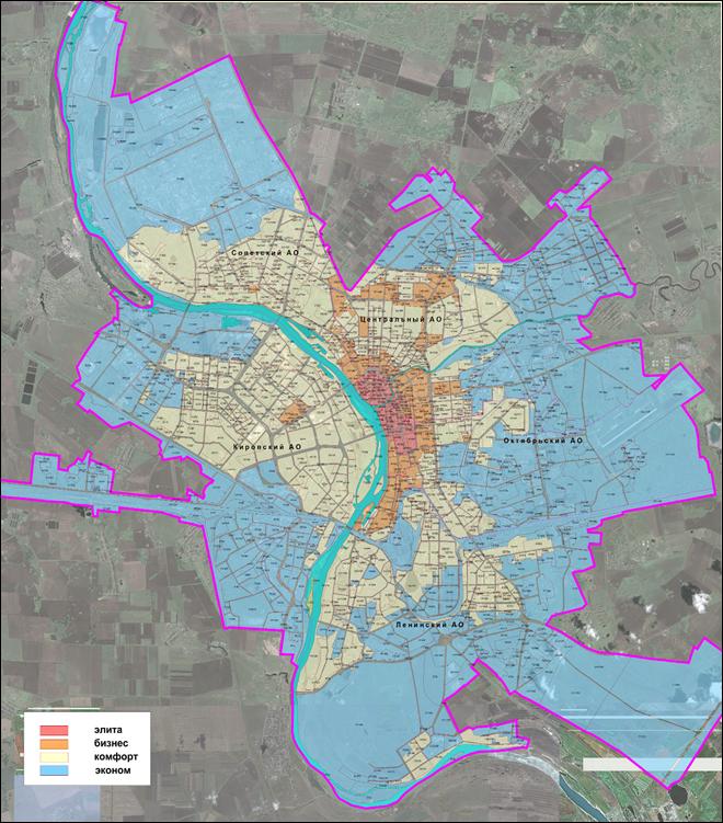 зонирование города Омска в